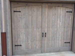 9'x8' Custom Cedar Overlay Door