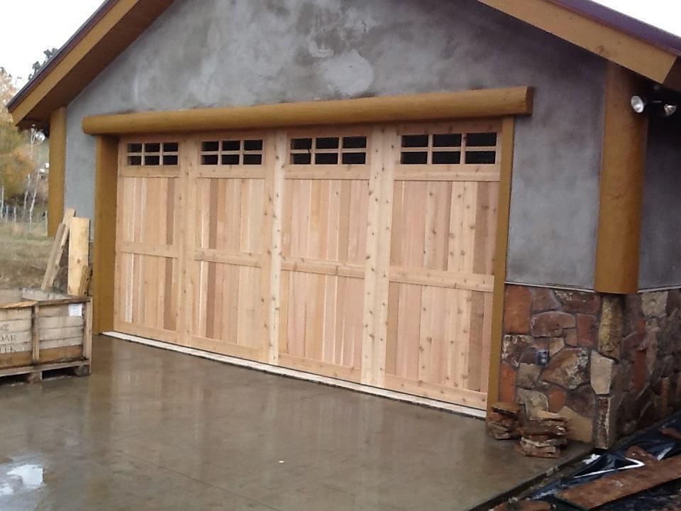 real wood garage doors